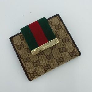 Gucci French GG web wallet